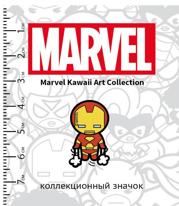 Значок деревянный Marvel Kawaii Железный Человек 2