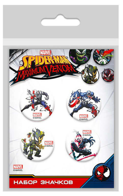 Набор значков Marvel Spider-Man: Maximum Venom 1 фото