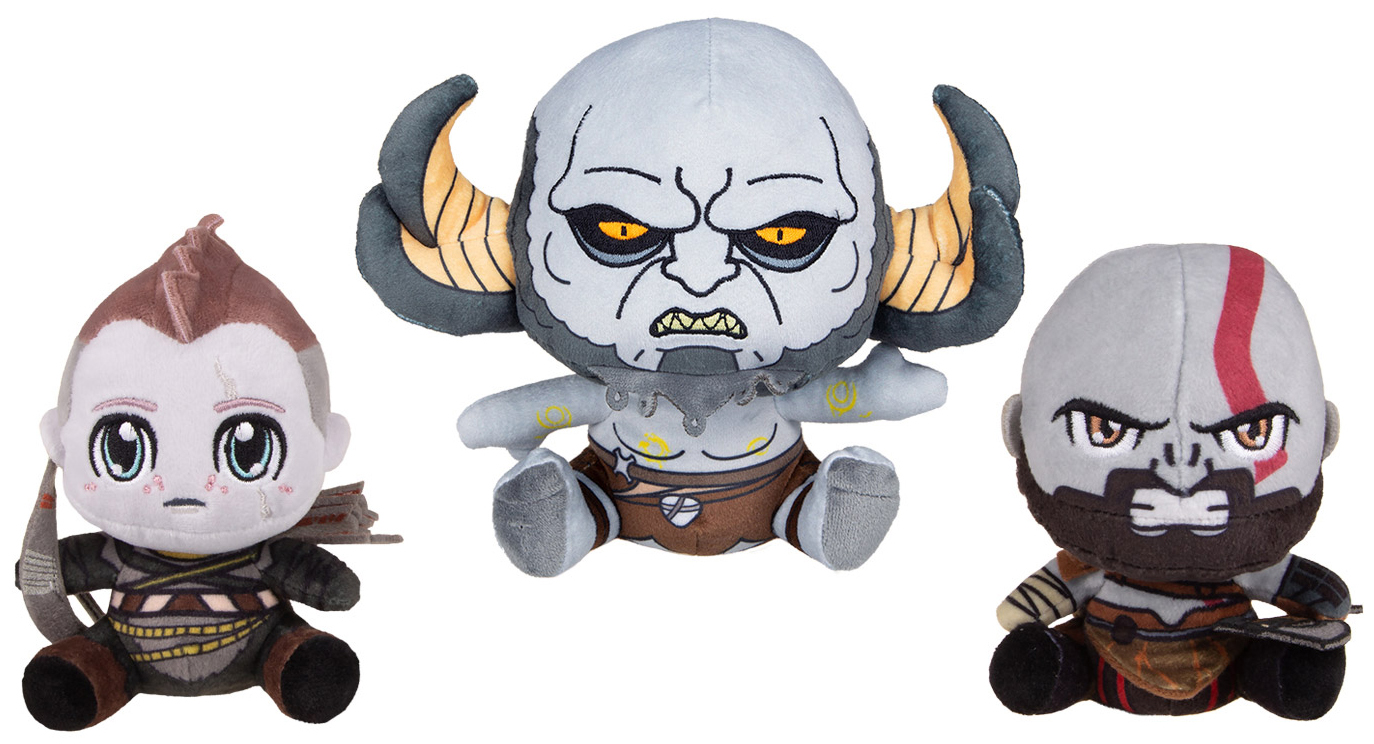 Набор мягких игрушек Gaya Stubbins Plush: God Of War: Kratos & Atreus & Troll (3-Pack) фото