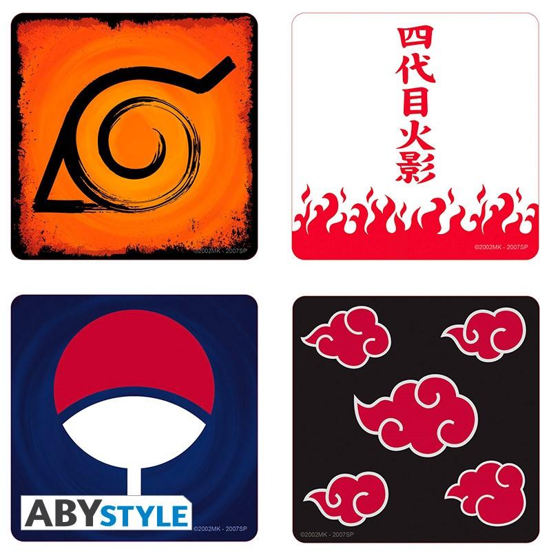 Подставки под напитки Naruto Shippuden: Emblem (4-Pack)