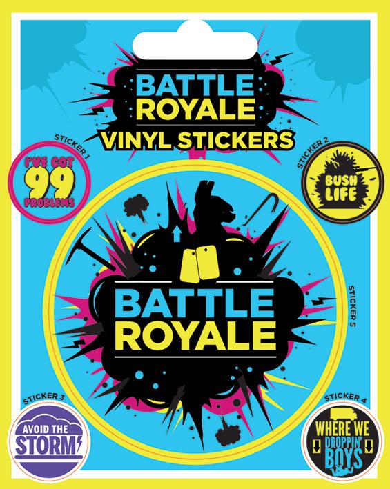 Набор стикеров Battle Royale: Infographic