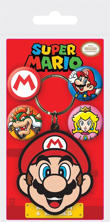Набор брелок и значки Super Mario: Mario