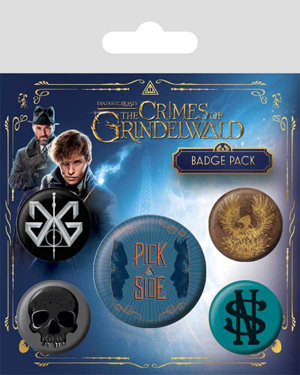 Набор значков Fantastic Beasts: The Crimes Of Grindelwald 5-Pack саундтрек саундтрек fantastic beasts the crimes of grindelwald 2 lp 180 gr