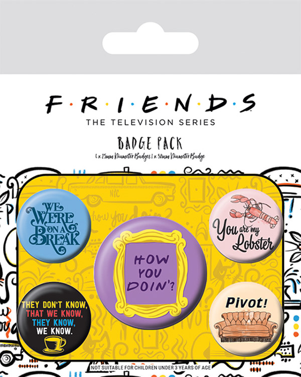 Набор значков Friends: Quotes 5-Pack