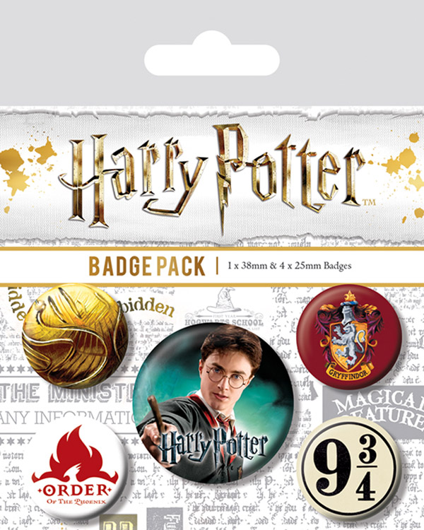 Набор значков Harry Potter: Gryffindor 5-Pack фото
