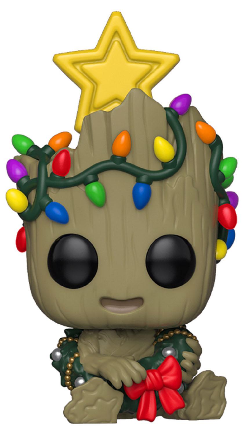 Фигурка Funko POP Marvel: Holiday – Groot Bobble-Head (9,5 см) фото