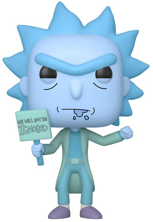 Фигурка Funko POP Animation: Rick And Morty – Hologram Rick Clone With A Sign (9,5 см) фото