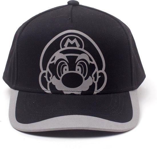 Бейсболка Nintendo Super Mario: Reflective Print Curved Bill
