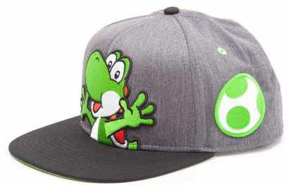 Бейсболка Nintendo: Super Mario With Yoshi And Egg Grey Snapback фото