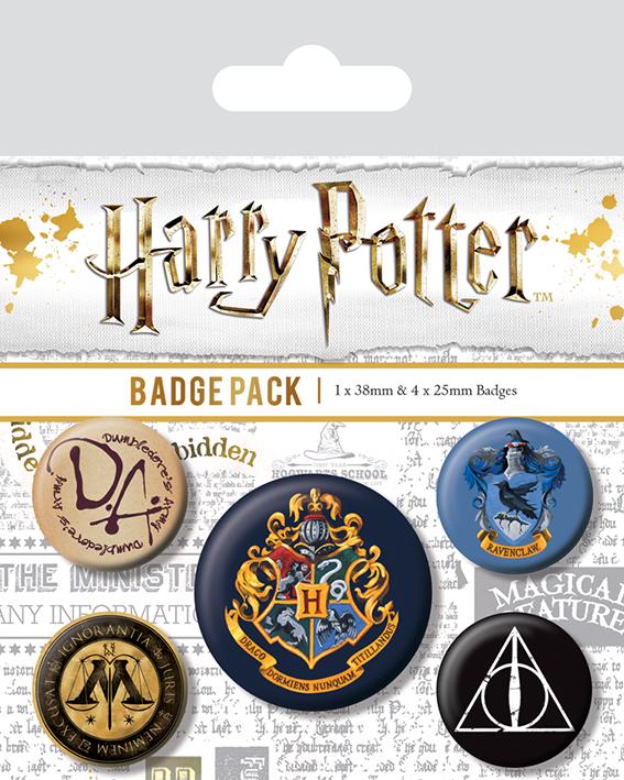 Набор значков Harry Potter: Hogwarts фото