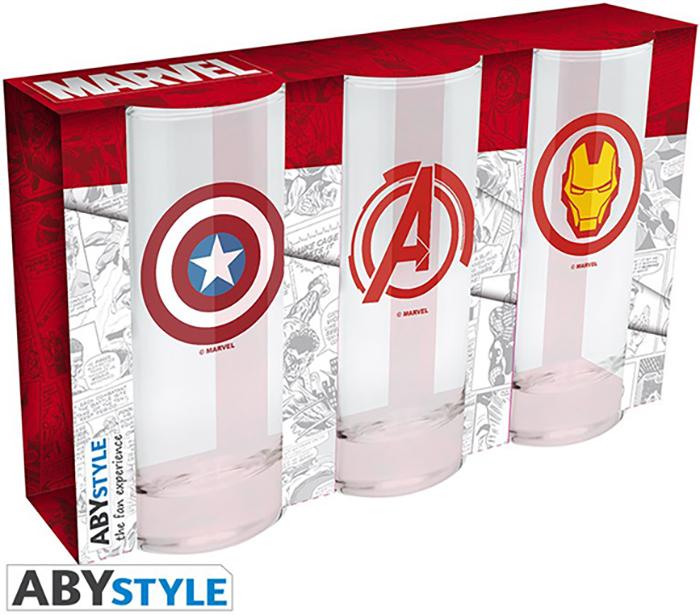Набор бокалов Marvel Avengers: Captain America & Iron Man