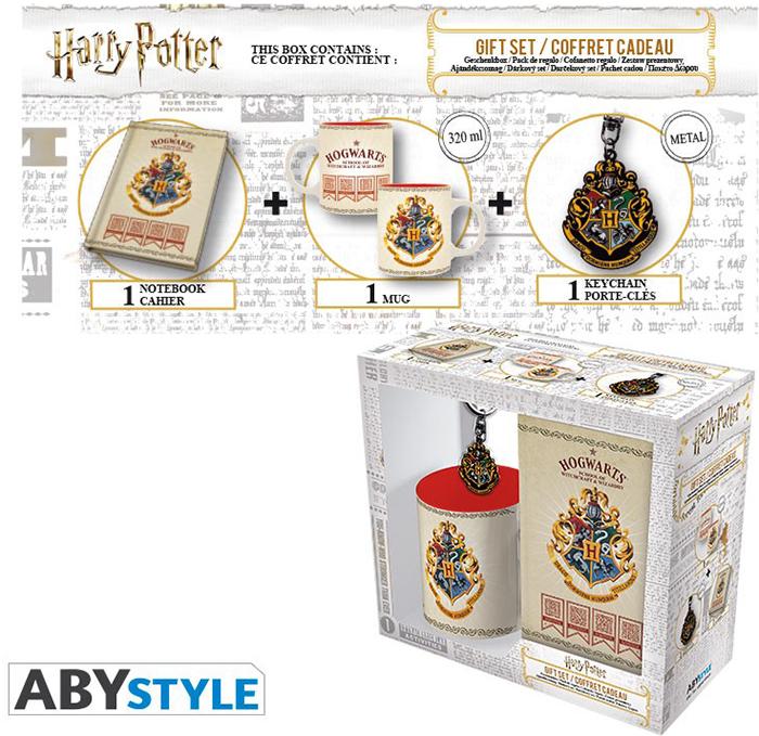 Набор подарочный Harry Potter (кружка + брелок + блокнот Hogwarts)