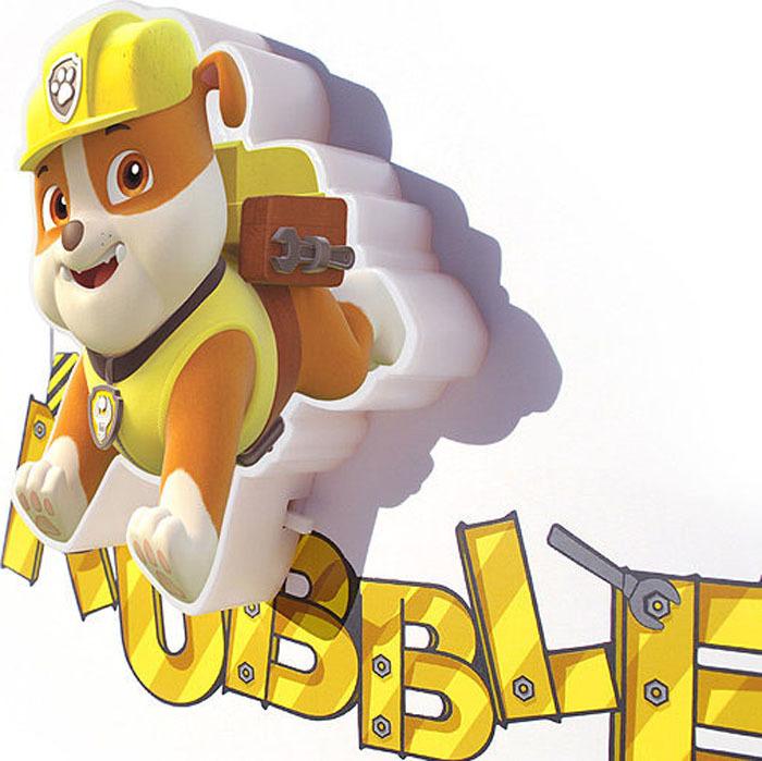 3D Светильник: Paw Patrol: Rubble Mini фото