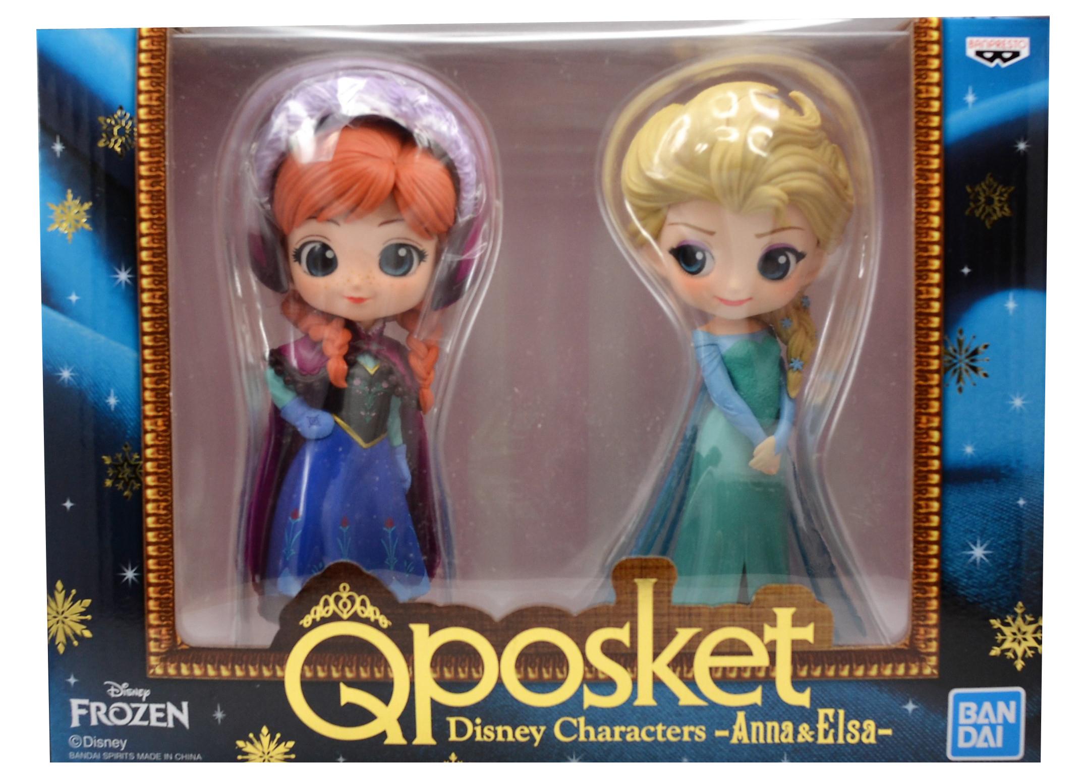 Фото - Фигурка Q Posket Disney Characters: Frozen – Anna & Elsa подарочный набор disney frozen ii anna house set