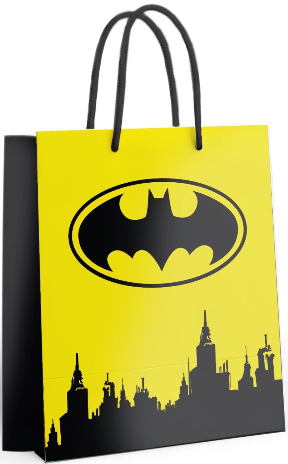 Пакет подарочный Batman: №2 (большой) (жёлтый) фото