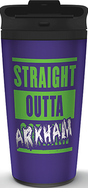 Фото - Кружка The Joker: Straight Outta Arkham Travel Mug коврик the joker welcome to arkham asylum