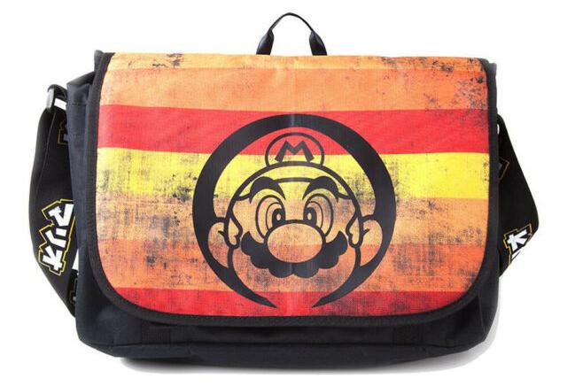 Сумка Nintendo: Super Mario Retro Striped Messenger Bag