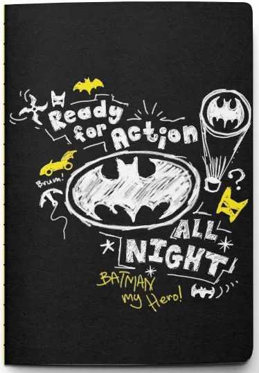 Блокнот Batman: Ready For action All Night