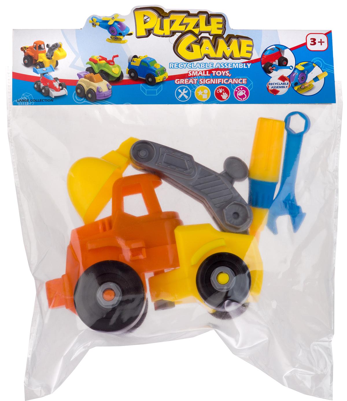 Набор пластмассовых деталей для сборки экскаватора, пакет (Union Vision: 555-12A)