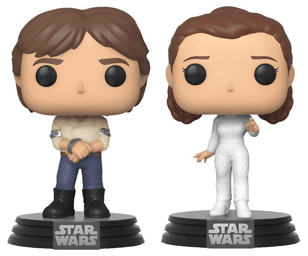 Фигурка Funko POP Star Wars 40: The Empire Strikes Back – Han Solo & Princess Leia Bobble-Head (2-Pack) funko pop bobble фигурка star wars solo qi ra pop 6 26977