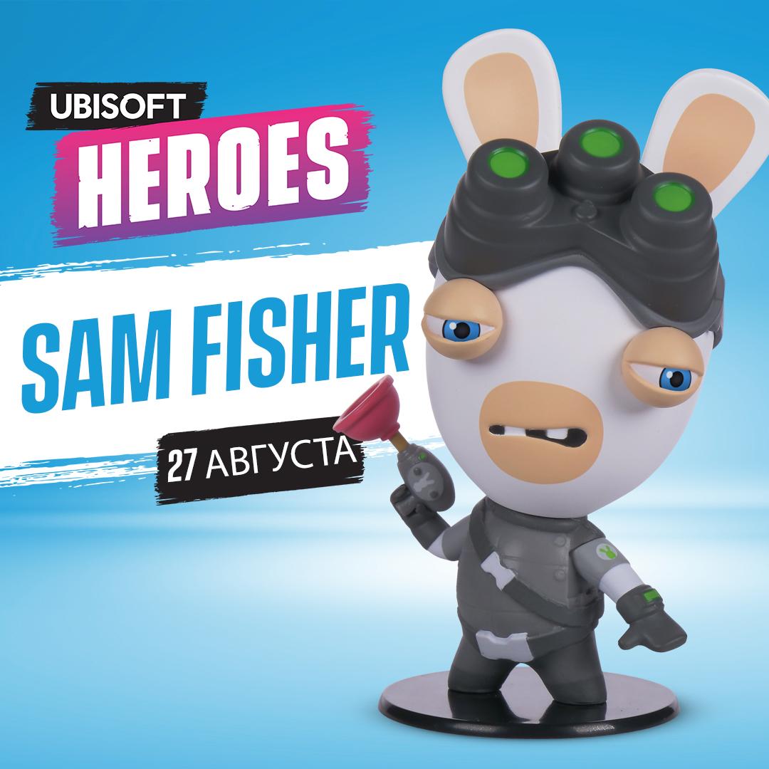 Фигурка Ubisoft Heroes: Rabbids + Splinter Cell Rabbid – Sam Fisher (10 см)