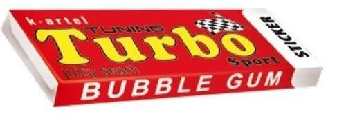 Жевательная резинка Turbo Sticker.