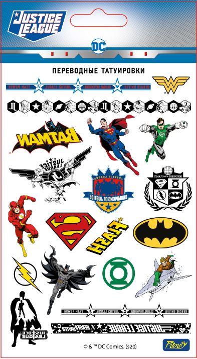 Набор татуировок переводных ДС: Лига Справедливости / DC: Justice League 1