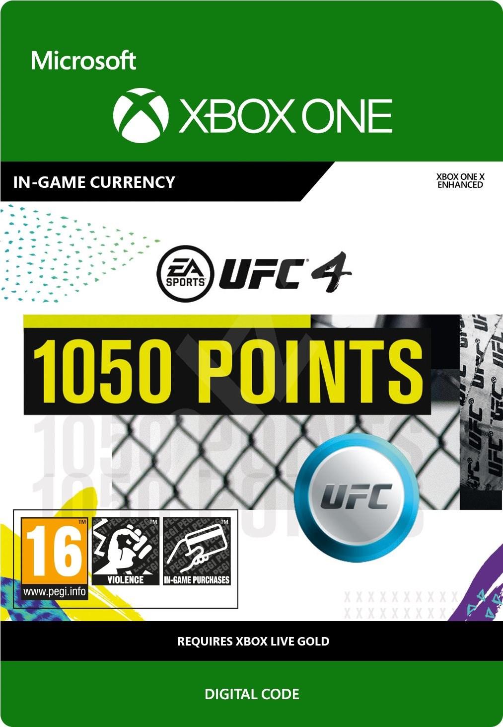 UFC 4: 1050 UFC Points [Xbox One, Цифровая версия] (Цифровая версия)