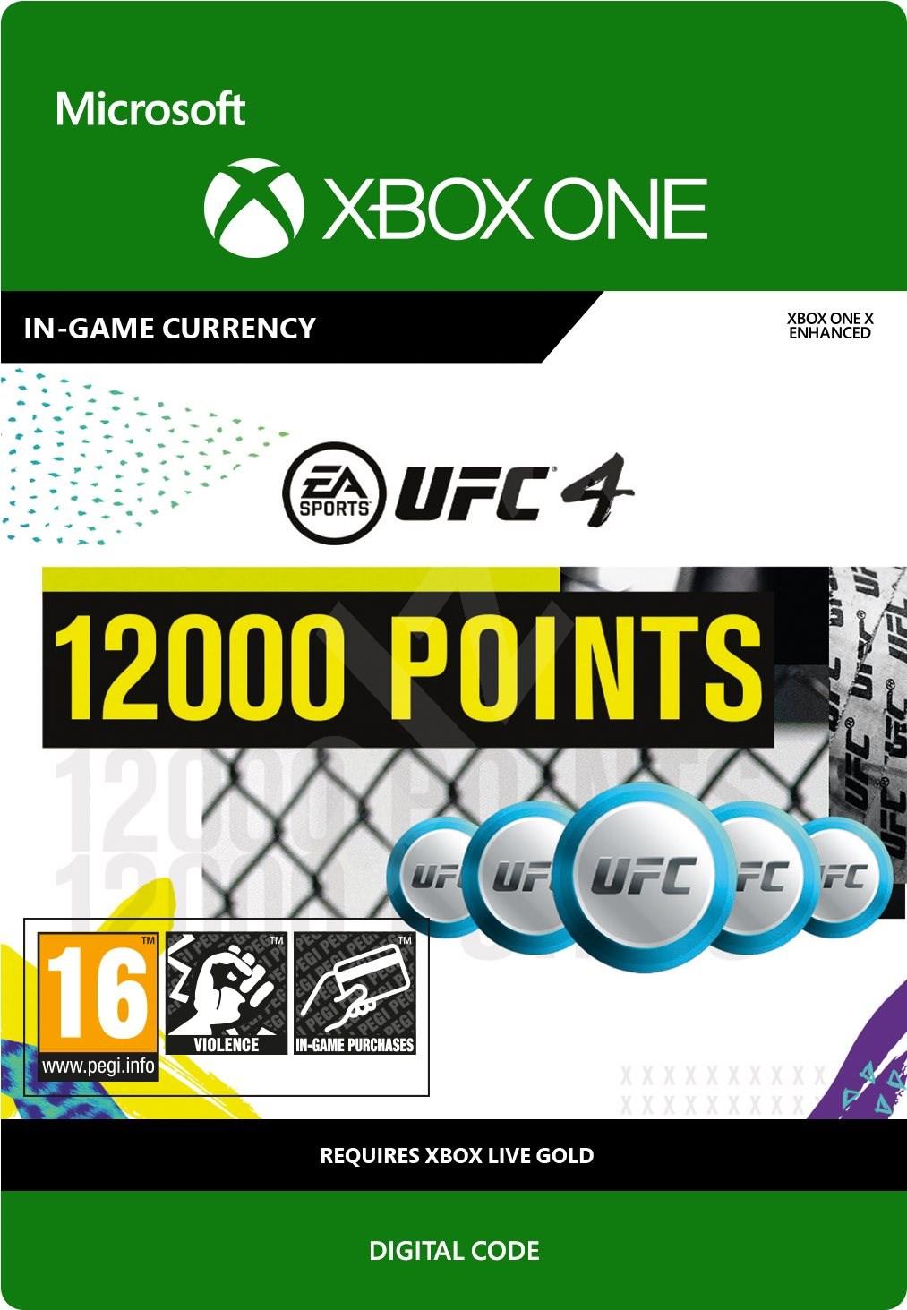 UFC 4: 12000 UFC Points [Xbox One, Цифровая версия] (Цифровая версия)