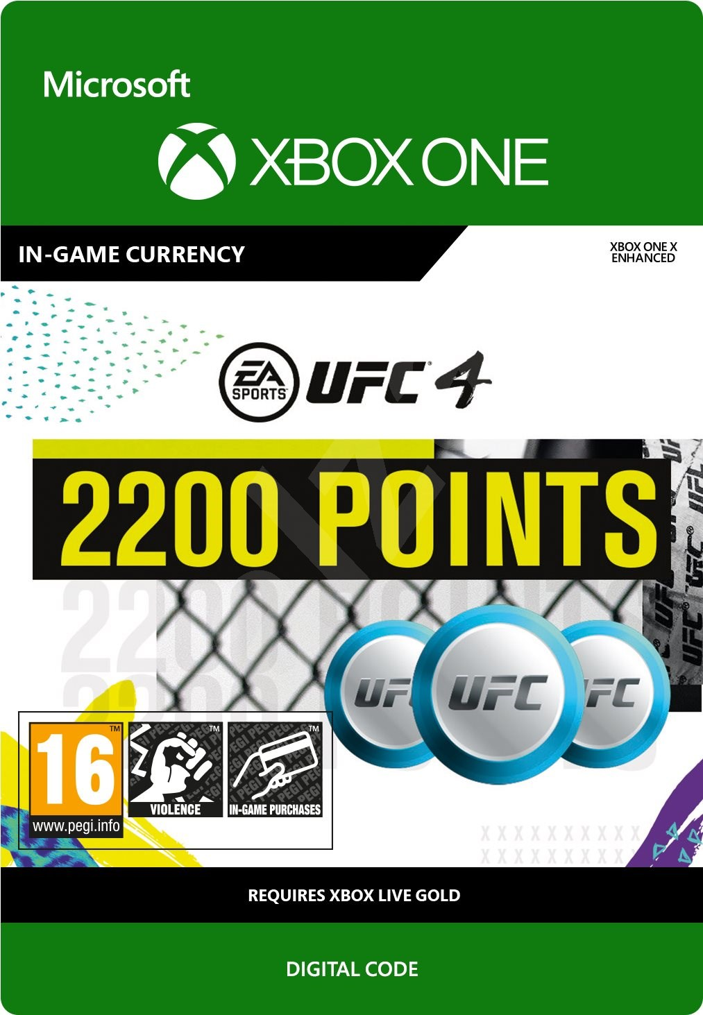 UFC 4: 2200 UFC Points [Xbox One, Цифровая версия] (Цифровая версия)
