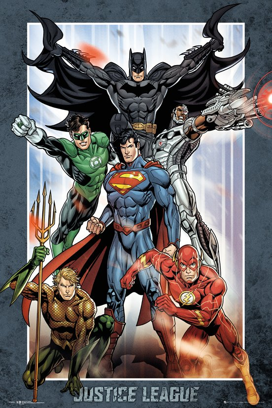 Постер DC Comics: Justice League Group dc universe justice league unlimited fan collection action figure superman includes mini kandor