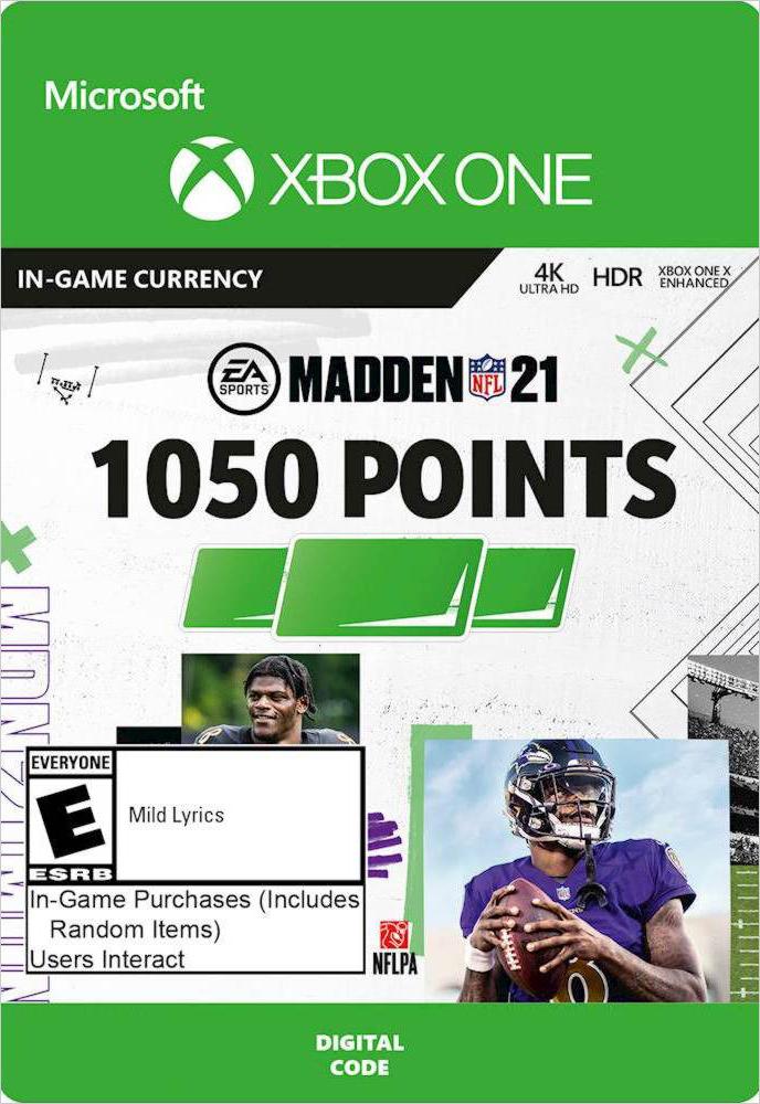 Madden NFL 21. 1050 Madden Points [Xbox One, Цифровая версия] (Цифровая версия)