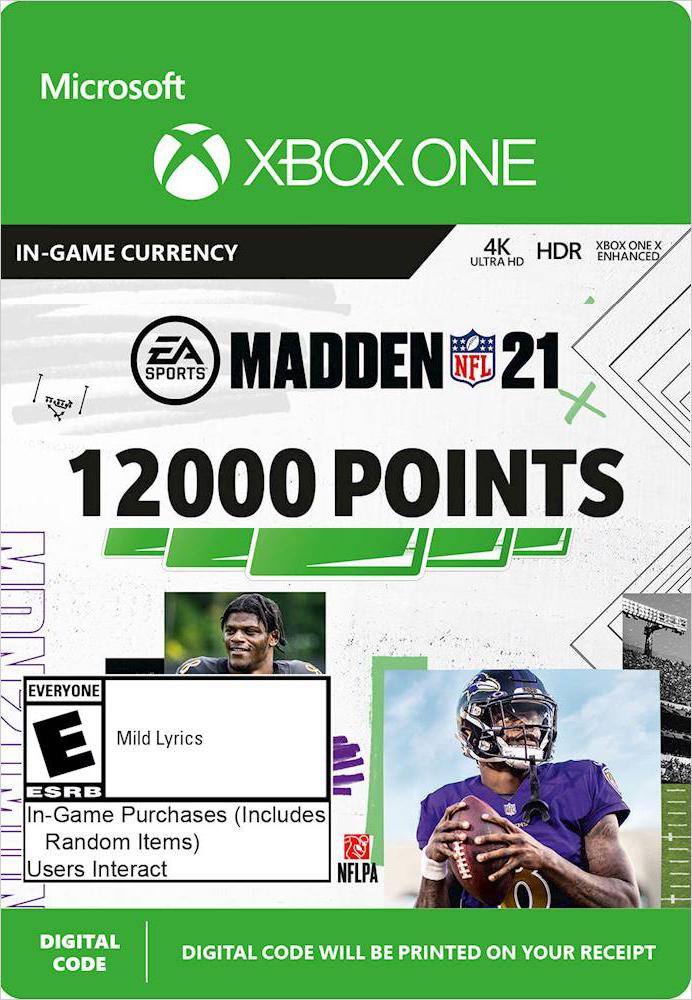 Madden NFL 21. 12000 Madden Points [Xbox One, Цифровая версия] (Цифровая версия)