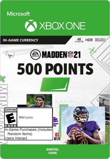 Madden NFL 21. 500 Madden Points [Xbox One, Цифровая версия] (Цифровая версия)