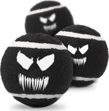 Мячик теннисный для животных Venom / Веном Чёрный (3 шт.)