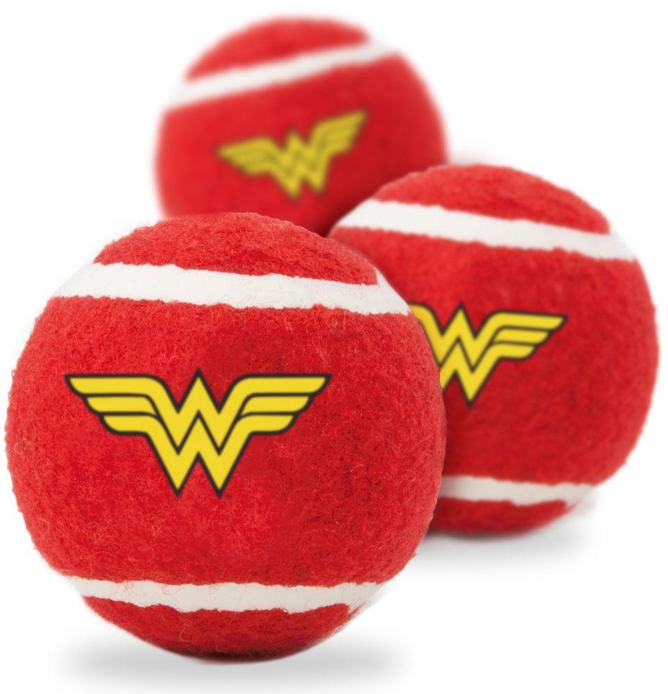 Мячик теннисный для животных Wonder Woman / Чудо-женщина Мультицвет (3 шт.)