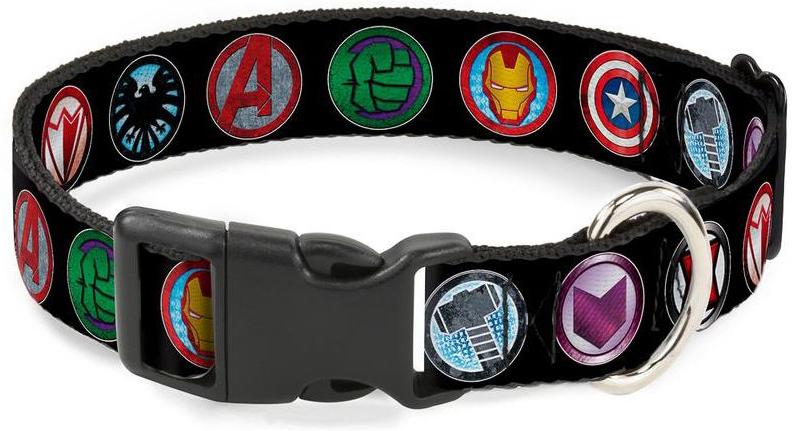 Ошейник Avengers / Мстители Мульицвет. С пластиковой застёжкой (38-66 см)