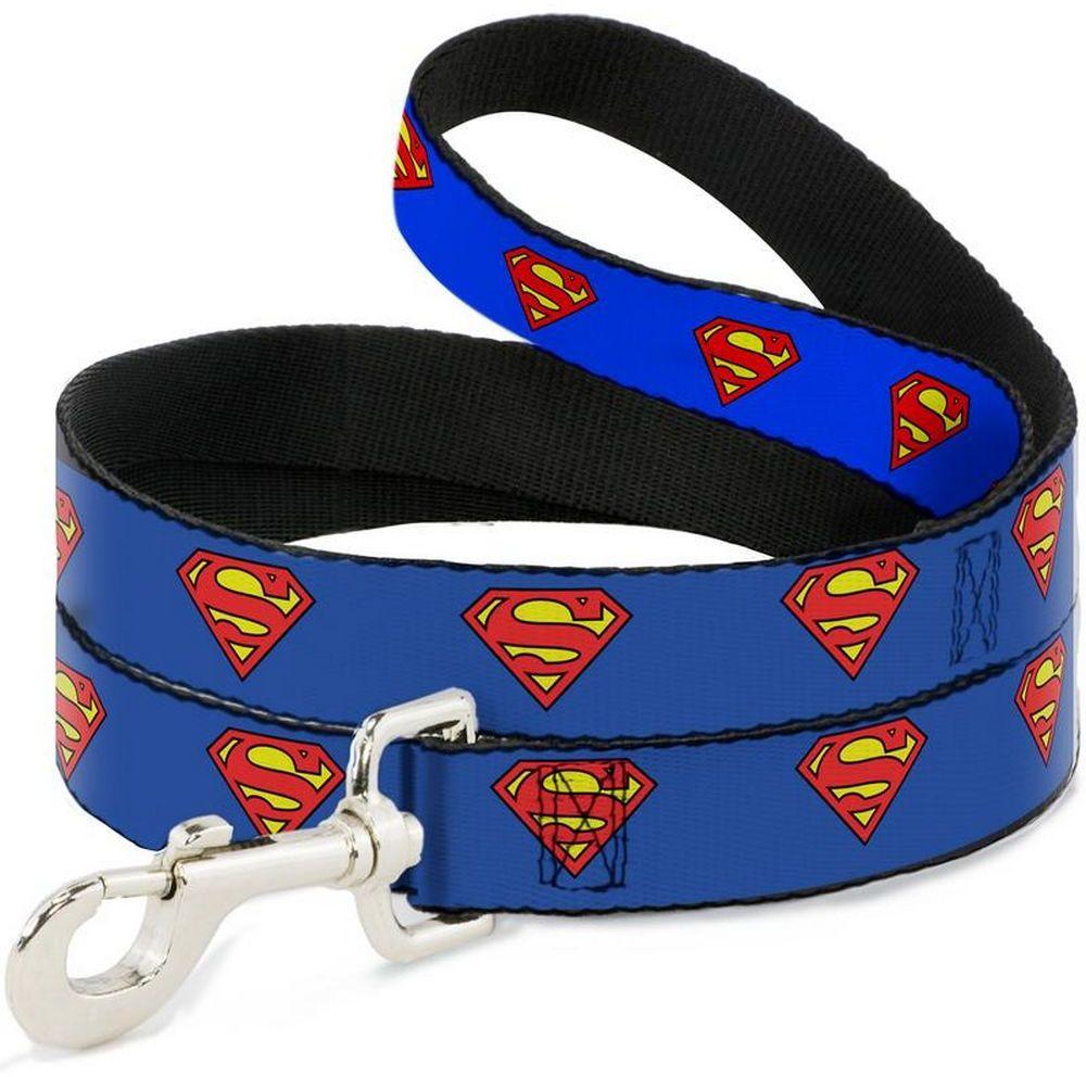 Поводок Superman / Супермен Синий (120 см)