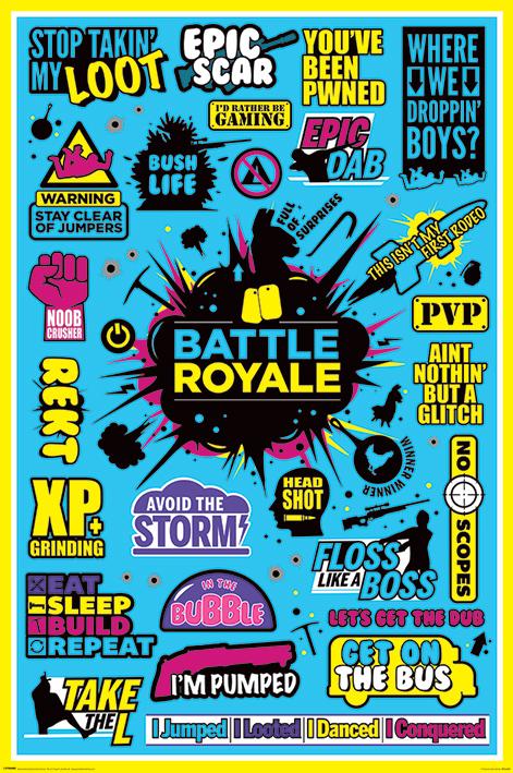 Постер Battle Royale: Infographic
