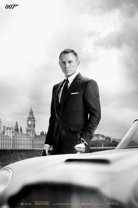 Постер James Bond: Bond & DB5 Skyfall
