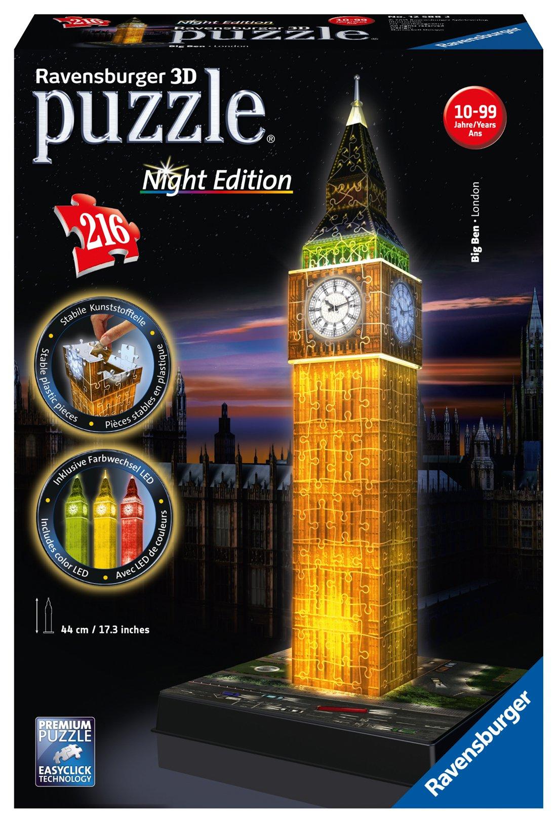 3D Puzzle Ночной Биг-Бен (216 элементов) пазлы рыжий кот пазл утренний биг бен в лондоне 2000 элементов