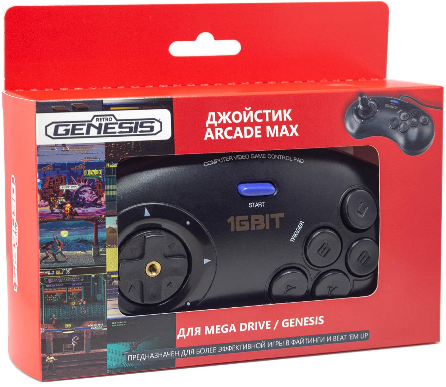 Джойстик 16 Bit Arcade Max проводной для Retro Genesis