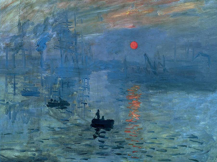 Кардхолдер Клод Моне: Впечатление. Восходящее солнце