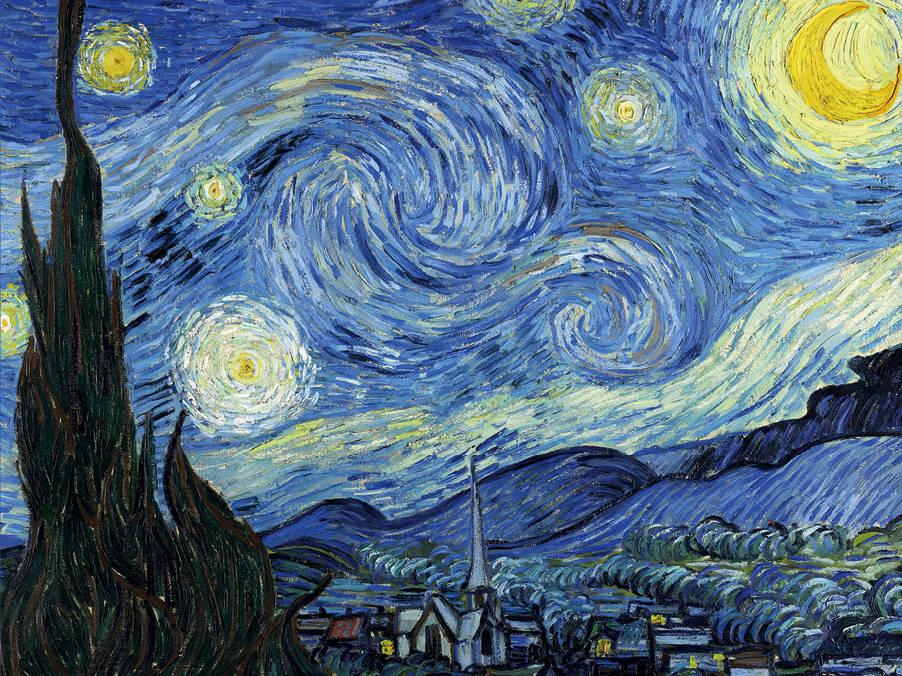 Кардхолдер Винсент Ван Гог: Звездная ночь