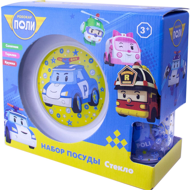 Набор посуды Робокар: Поли Поли (стекло) набор игровой робокар поли команда поли