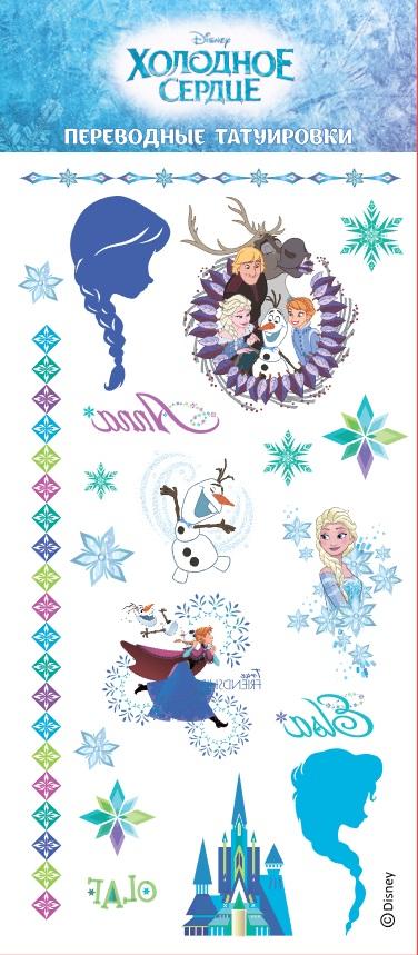 Фото - Набор татуировок переводных Disney 1: Холодное сердце 3 магнитная игра disney холодное сердце – дизайн 1
