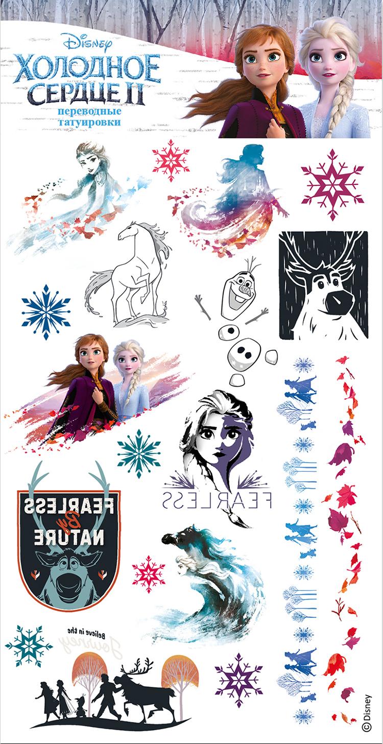 Фото - Набор татуировок переводных Disney 1: Холодное сердце II 3 магнитная игра disney холодное сердце – дизайн 1