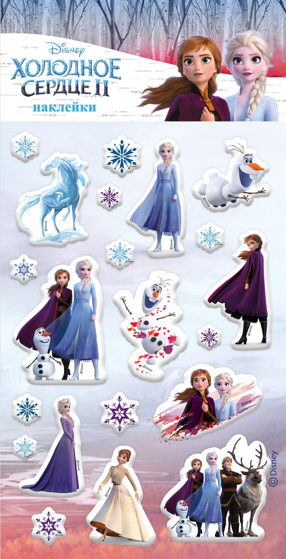 Фото - Набор наклеек Disney: Холодное сердце II 2 магнитная игра disney холодное сердце – дизайн 1