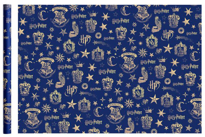 Фото - Бумага упаковочная Harry Potter (синяя) 700x1000 мм (2 шт.) бумага упаковочная принцесса 700 1000мм 2 шт