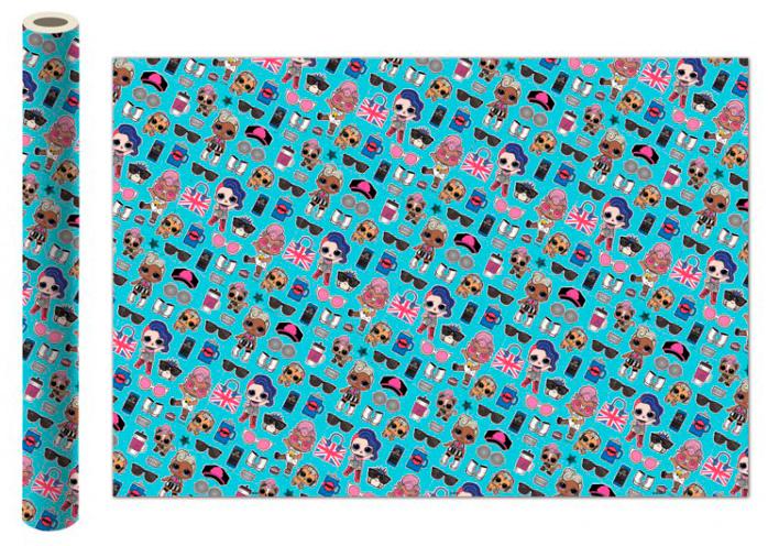 Фото - Бумага упаковочная LOL (бирюзовая) 700x1000 мм (2 шт.) бумага упаковочная принцесса 700 1000мм 2 шт